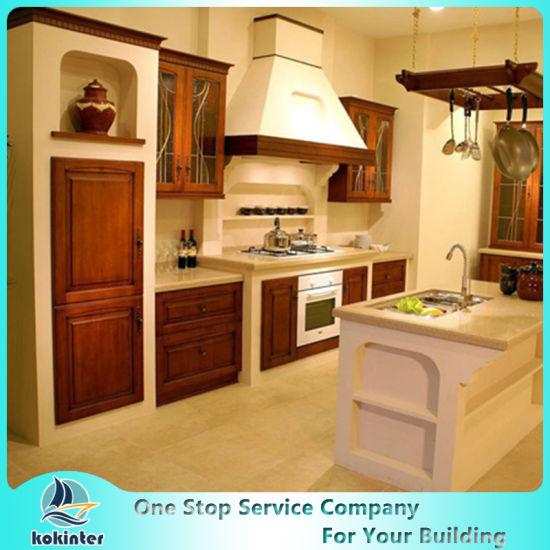 New Design China Soild Wood Kitchen Cabinet Five Modern