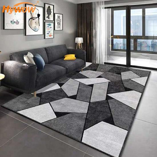 Simple Nordic Living Room Rug Carpet 3D Floral Print Carpet