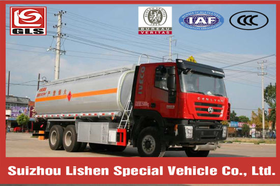 Hongyan Genlyon 6X4 Chassis 19cbm Flammable Liquid Tank Truck pictures & photos