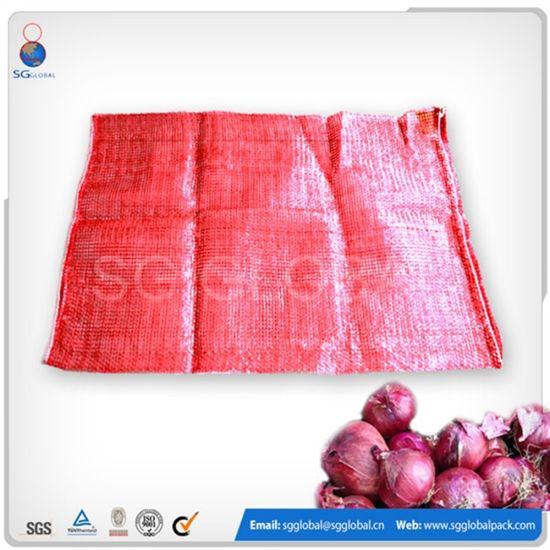 Tubular PP Leno Mesh Bag for Packaging Potato Onion Orange pictures & photos