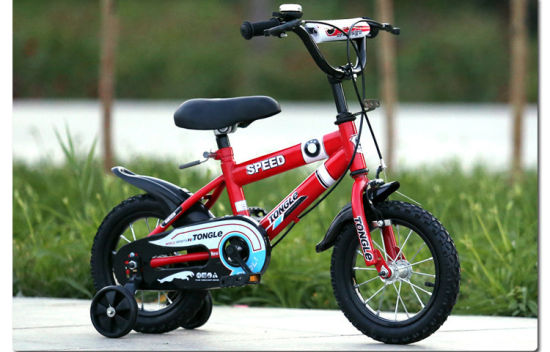 China Ce Standard Kids Bike With Training Wheel Kids 4 Wheel Bike
