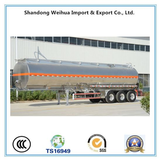 Chemical Liquid Transport Tank Trailer Semi-Trailer with 3 Axles pictures & photos