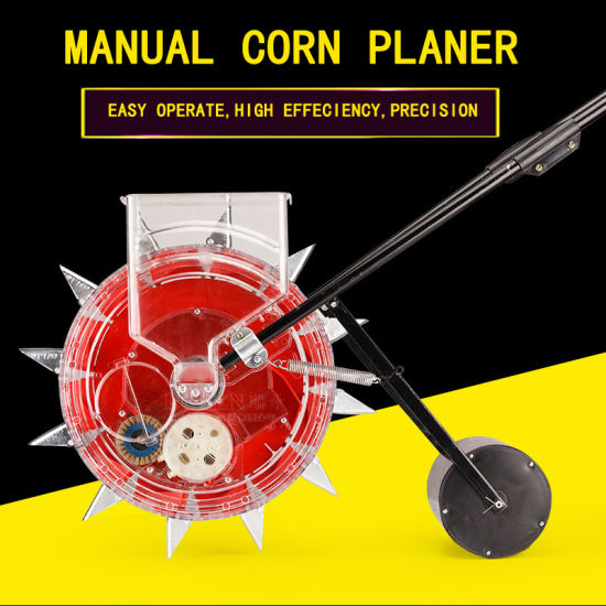 China Home Use Hand Push Corn Planter Manual Corn Maize Fertilizer