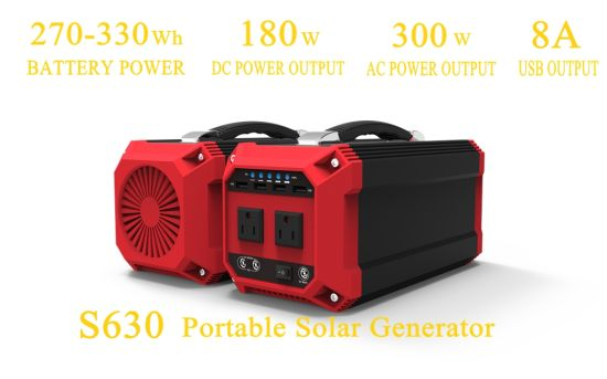 Portable Solar Energy Lithium Generator with Inverter