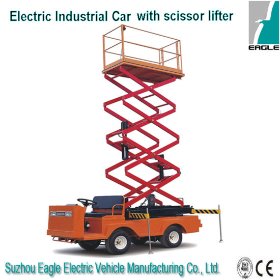 Electric Scissor Lifter with 6m Lifter