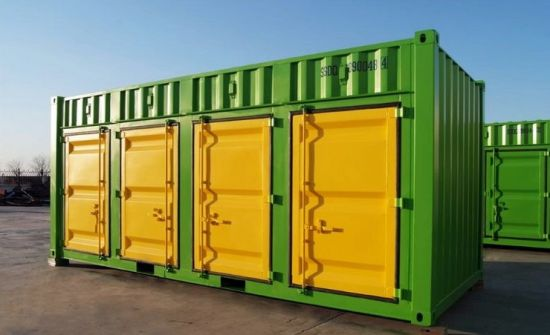 4 Rolling Door Storage Container