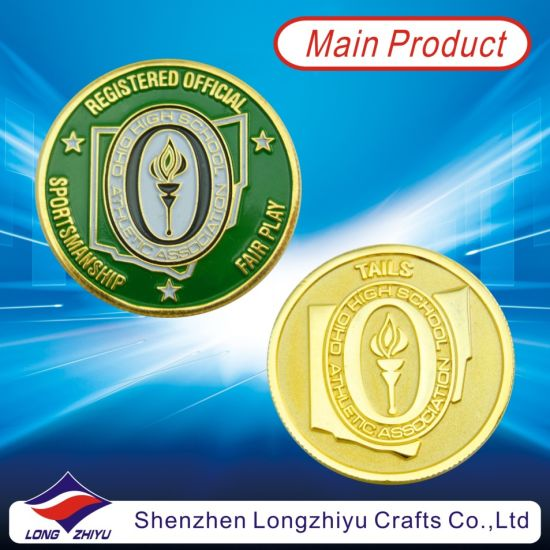 Commemorative Custom Copper Coin/ Medallion Metal Goldmedal Replica Coins,  Fake Gold Metal Coins with Your Logo Design Enamel for Souveir