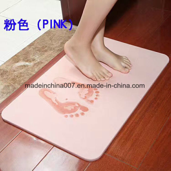 China Diatomite Bath Mat Dries Quickly Mats Earth Japan Market China Absorbent Bath Mat Water Absorbing Bath Mat