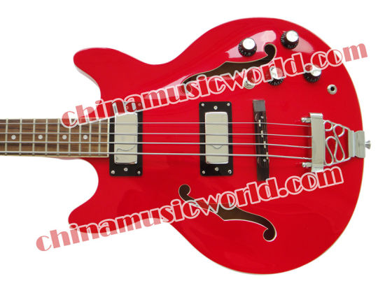 Afanti Guitar Factory / Hollow Body 4 Strings Electric Bass (AHB-084)