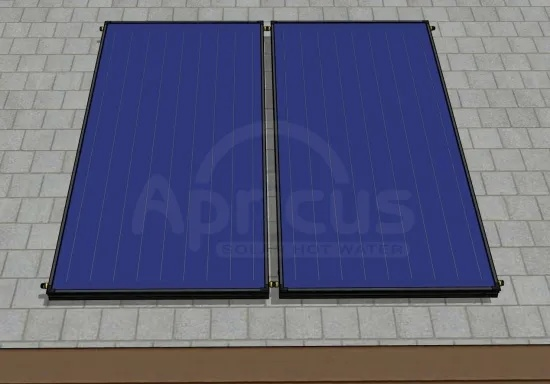 Blue Absorber High Pressure Flat Plate Panel Hot Water Heater Solarthermal Collector