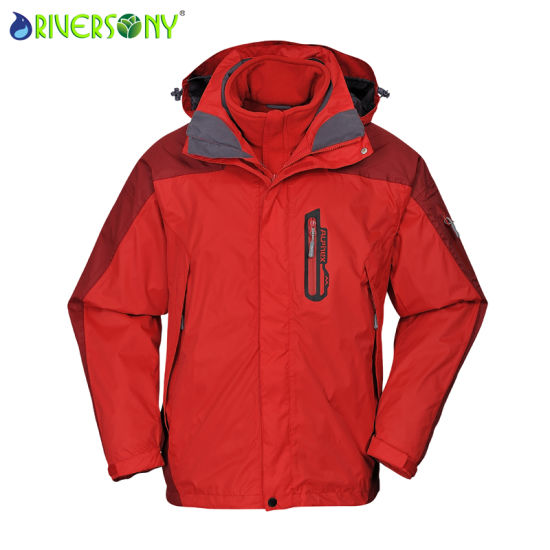 Sponge/PU Breathable 3 in 1 Outdoor Jacket pictures & photos
