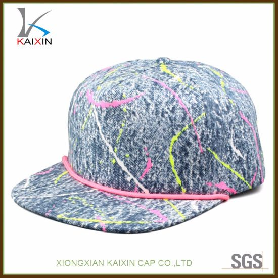 c0e42b23054 China Tie Dye Blank Rope Brim Snapback Caps Wholesale - China Cap