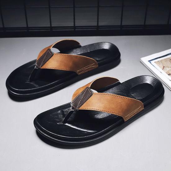 Mens Summer Flip Flops Toe Post Slip On Sandals Beach Walking Pool Slippers Size