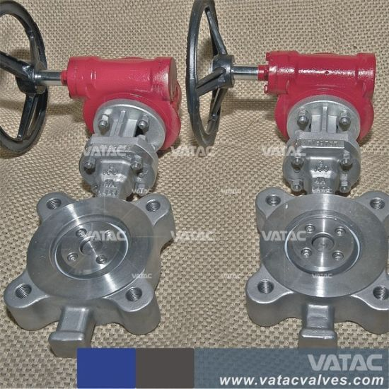 Stainless Steel Bare Shaft Half Lug Wafer Butterfly Valve pictures & photos