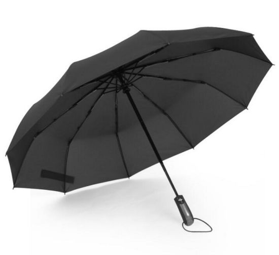 Full Automatic Ten Stick Double Tri-Folded Business Umbrella