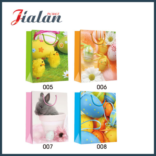 Ribbon Handle Rope Cheap Customize Lace Decoration Customize Paper Bag pictures & photos