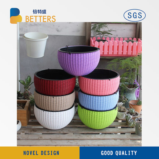 Ningbo Zhenhai Betters Plastic Co. Ltd. & Custom Logo Decorative Plastic Planter Pot Small Flower Pots