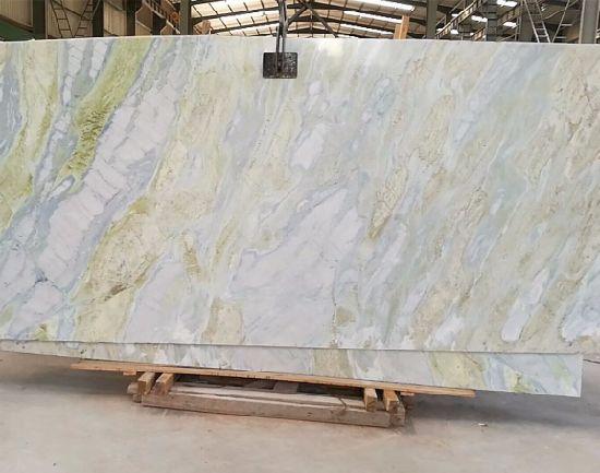 China Jade White Marble Slab For KitchenBathroomWallFloor China - Marble slab bathroom