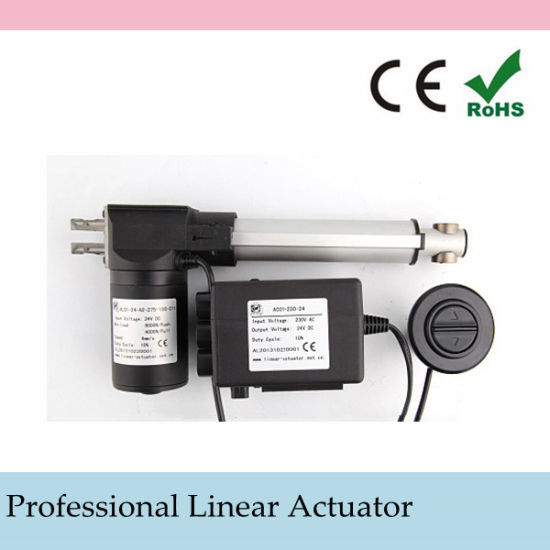 12 Volt Linear Actuator with Power Supply and Wire Type Handset
