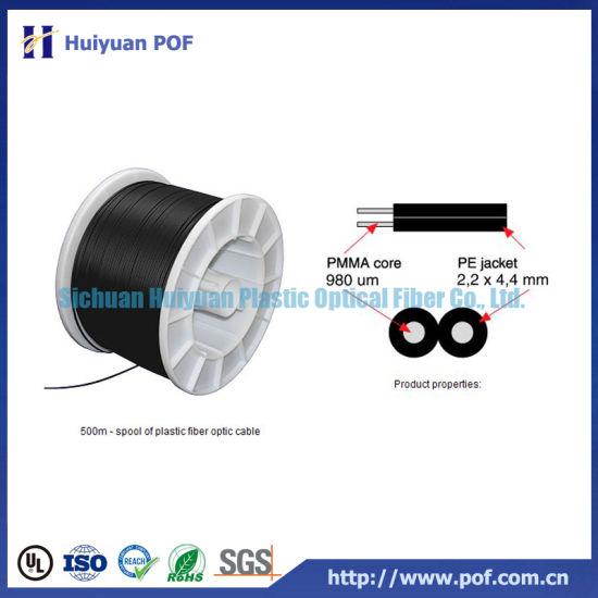 DC2 Duplex Plastic Optical Communication Fiber Cable