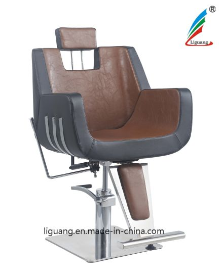 Salon Furniture Stainless Square Chassis Is Fitted with a Barber Chair