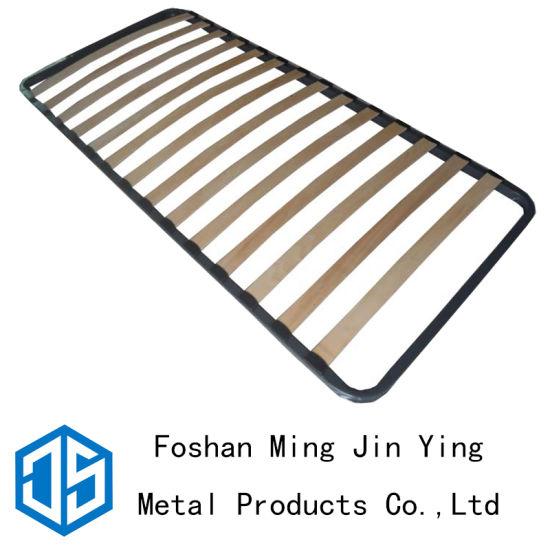 Single Bed Base Poplar Slats Bed Stand Hardware (A009)