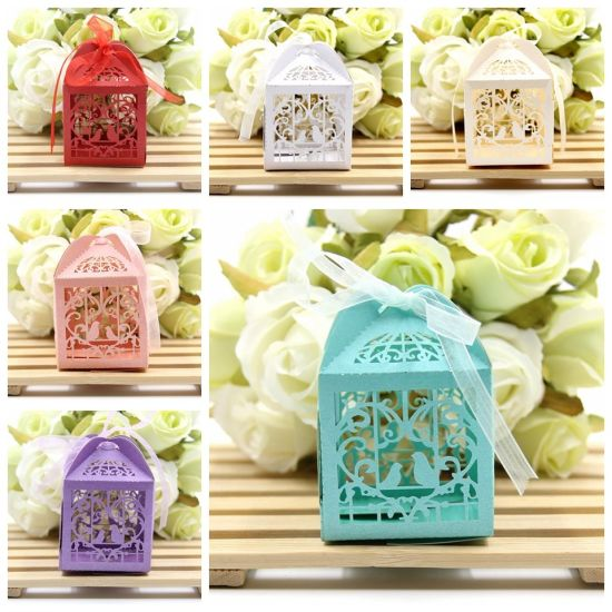 Lovely Birds DIY Candy Box Wedding Favors Paper Gift Box Handmade Candy Boxes for Baby Shower/Wedding Party Decoration pictures & photos