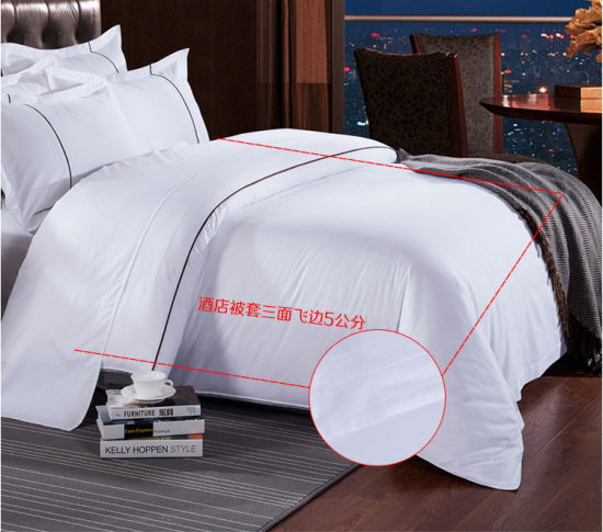 High Quality 100% Cotton Hotel Textile Bedding Linen Bed Sheet Set pictures & photos