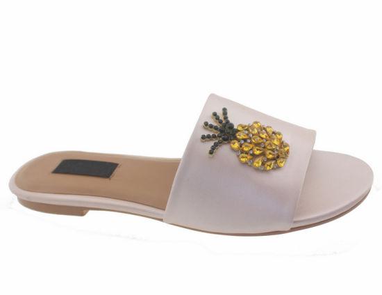 7da4e44f671a China Women′s Satin Classic Wide Fit Slide Flip Flop Slippers Shoes ...