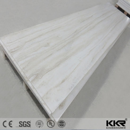 Textured Marble Look Acrylic Solid Surface Sheet Corian 181105