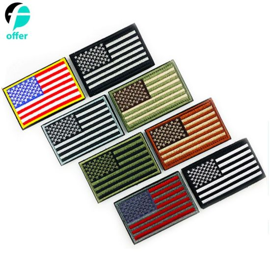 Multi Color USA America Flag Embroidery Patch pictures & photos