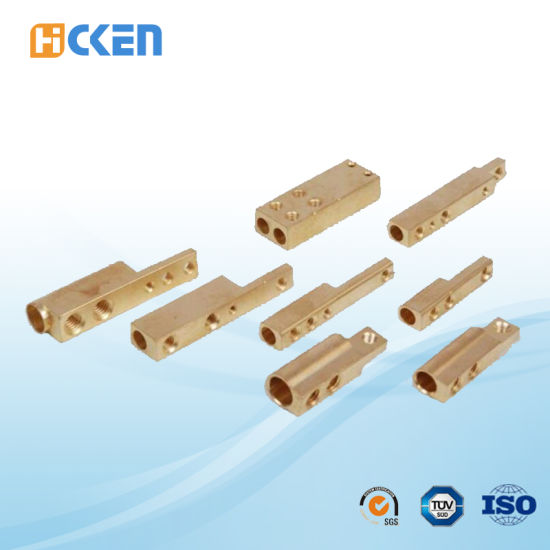 Customized Good Quality CNC Machining Brass Square Pipe Threaded Fittings pictures & photos