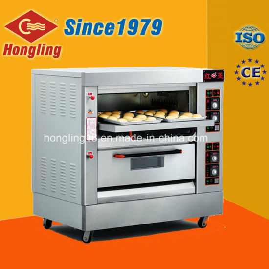 Hongling Kitchen Equipment 2-Deck 4-Tray Gas Oven for Sales pictures & photos
