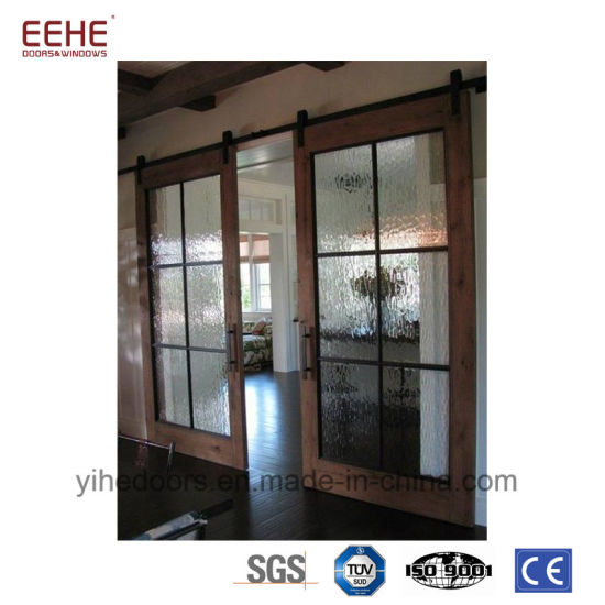 China Classical Finished Interior Barn Door Slab With Sliding Door