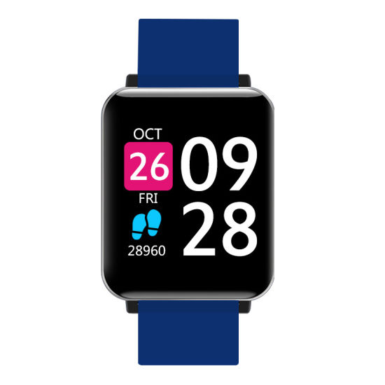 New Stylish Android Ios Square Smart Watches with Heart Rate Blood Pressure
