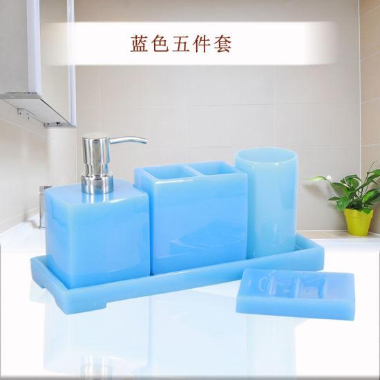 5pcs Marble Acrylic Bathroom Toiletry Organizer