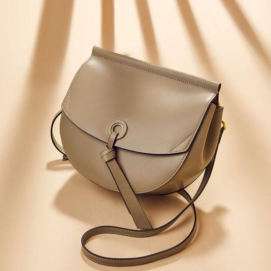 Fashion Trend Leather Ladies Saddle Shoulder Handbags