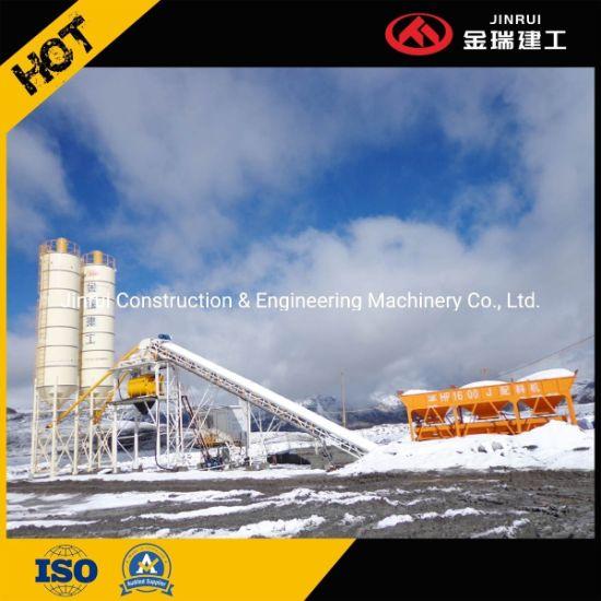1.5cbm Portable Concrete Batching Mixing Plant as Cement Batch Construction Machine Hzs90