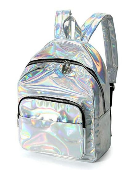 Reflect Leather Backpack Travel Leisure Student Fashion Sports School Bag