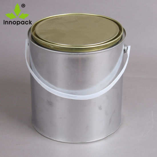 1L Tin Bucket with Tight Lid and Plastic Handle for Paint/Ink/Solvent pictures & photos