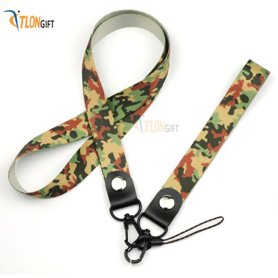 Popular Camouflage Design Fashion Nylon Lanyard of Promotion Gift pictures & photos