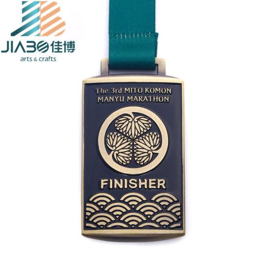 Die Casting Antique Bronze Custom Enamel Judo Trophy Medals for Souvenir