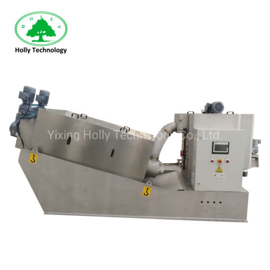 Fully Automatical Stacked Screw Sludge Dewatering Machine for Water Treatment