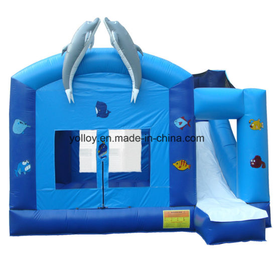 Inflatable Bouncer House with Slide in Oceam Theme pictures & photos
