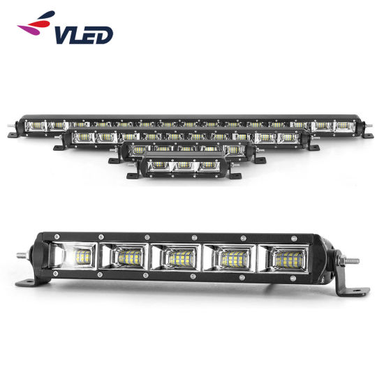 High Power Slim LED Light Bar for Trucks, 4X4 Parts and Accessories Single Row Lightbar