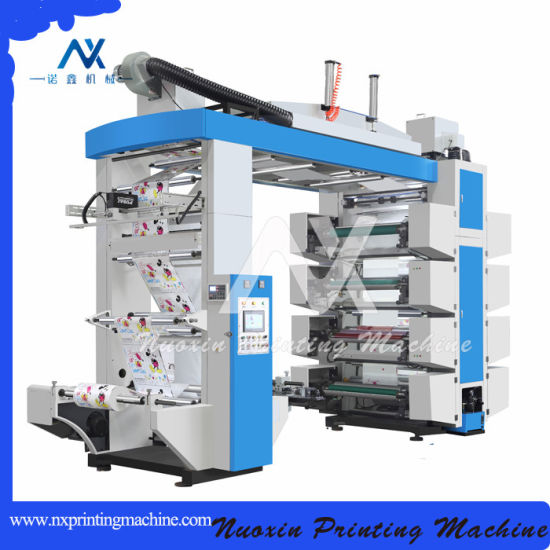 China 120m/Min High Speed 8 Colors Stack Type Flexographic/Flexo Printing Machine