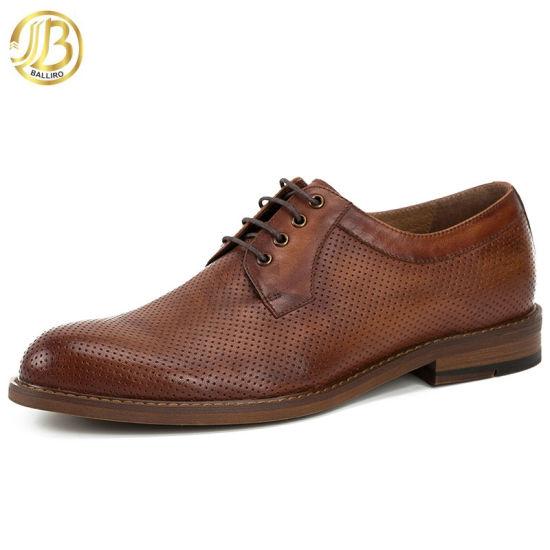 2018 Latest Original Design Custom Made Color Man Leather Shoes