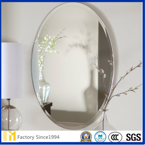 3mm 4mm 5mm Decorativea Frameless Wall Mounted Beveled Bathroom Mirror for Home Decoration