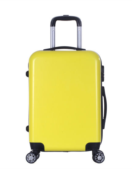 360 Degree 8 Wheels Suitcase, Colorful Plain Surface ABS PC Luggage (XHP117)