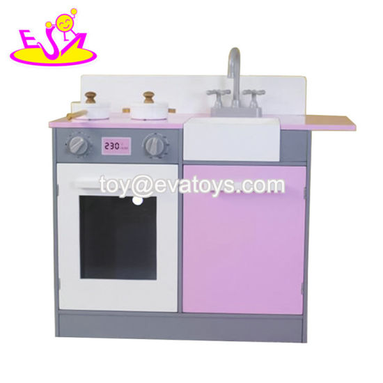 2019 New Design Children Wooden Small Play Kitchen with Customize W10c453
